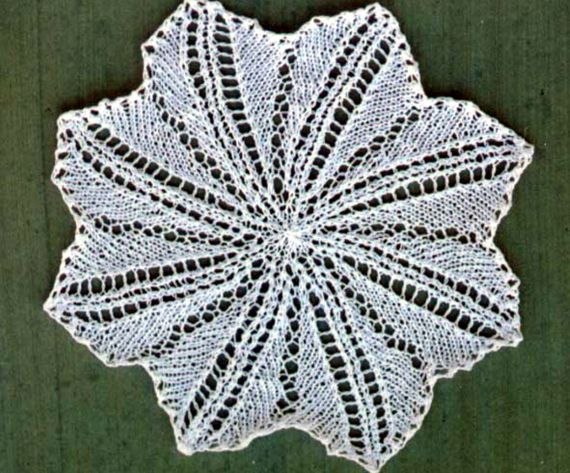 Easy Lace Doily - - Knit ePattern — Frugal Knitting Haus